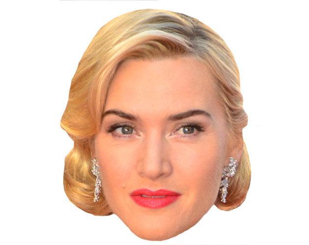 A Cardboard Celebrity Kate Winslet Mask