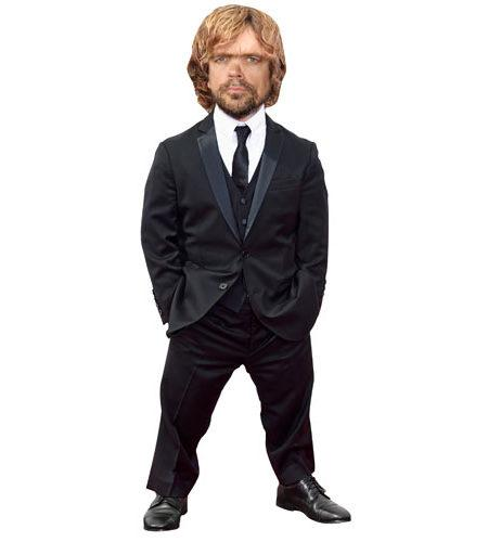 A Lifesize Cardboard Cutout of Peter Dinklage wearing a suit