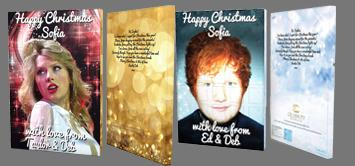 Personalized celebrity Advent calendars