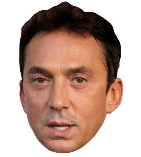A Cardboard Celebrity Mask of Bruno Tonioli