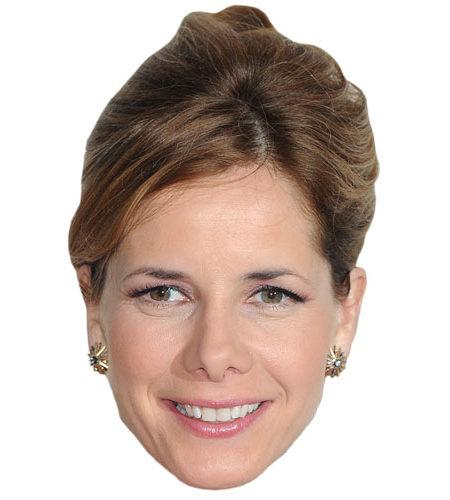 A Cardboard Celebrity Mask of Darcey Bussell