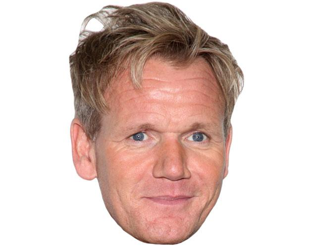 Gordon Ramsay Celebrity Mask fully assembled with strap.