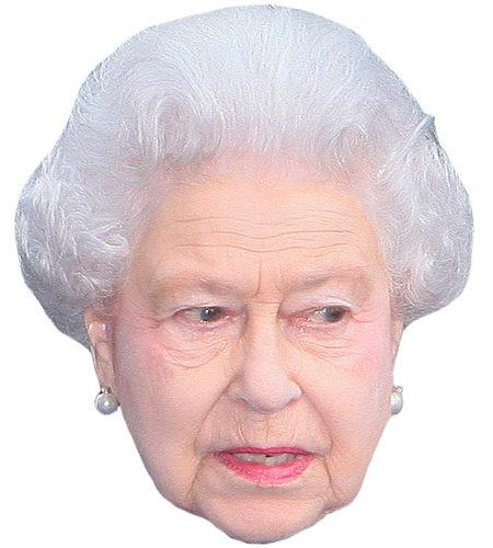 A Cardboard Celebrity Big Head of HRH The Queen