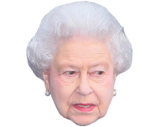 A Cardboard Celebrity Mask of HRH The Queen