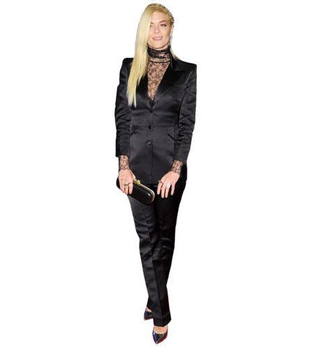 A Lifesize Cardboard Cutout of Jaime King wearing trousers