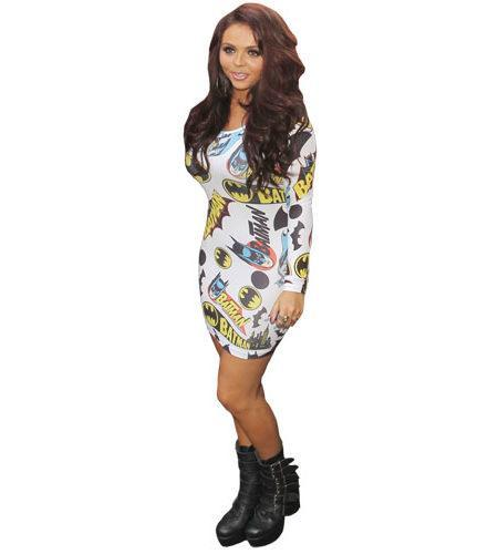 A Lifesize Cardboard Cutout of Jesy Nelson wearing a white dress