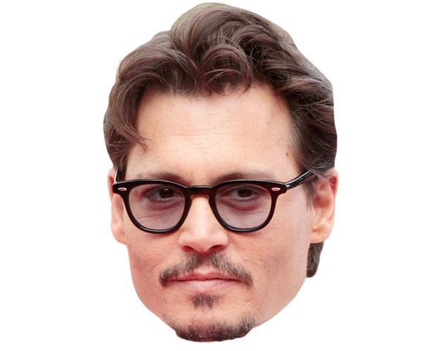 A Cardboard Celebrity Mask of Johnny Depp