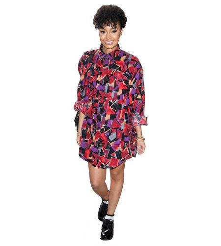 A Lifesize Cardboard Cutout of Leigh-Anne Pinnock wearing a dress
