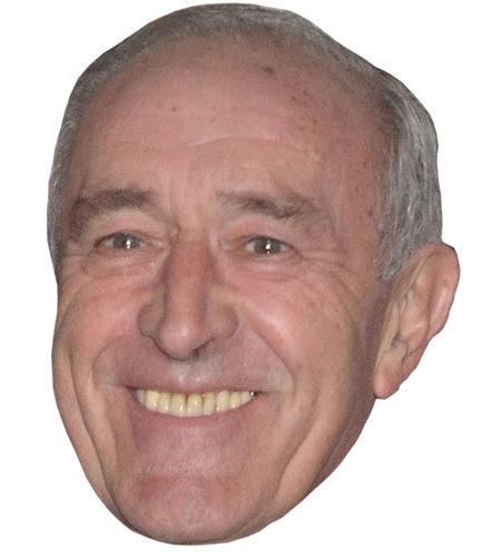 A Cardboard Celebrity Mask of Len Goodman