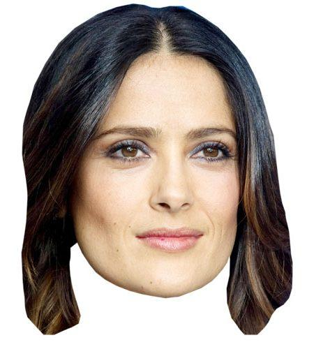 A Cardboard Celebrity Big Head of Salma Hayek