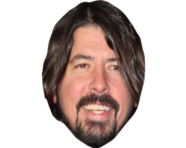 A Cardboard Celebrity Mask of Dave Grohl