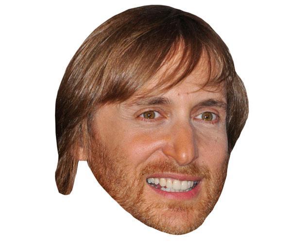 A Cardboard Celebrity David Guetta Mask
