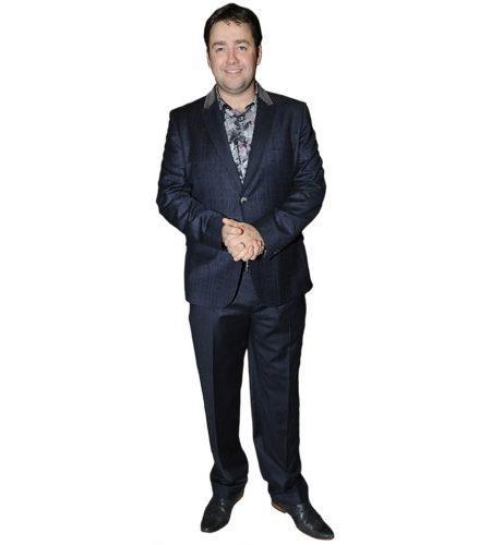 A Lifesize Cardboard Cutout of Jason Manford wearing a suit