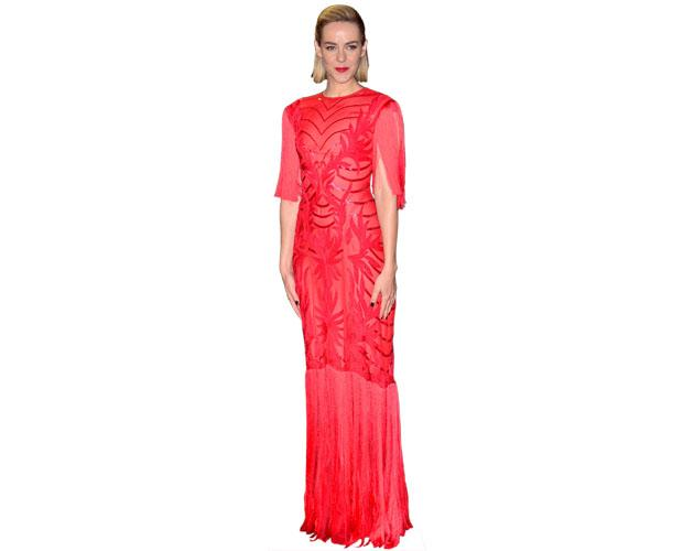 A Lifesize Cardboard Cutout of Jena Malone wearing a gown