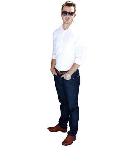 A Lifesize Cardboard Cutout of Kevin Jonas wearing shades