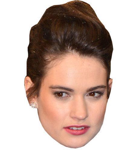 A Cardboard Celebrity Big Head of Lily James