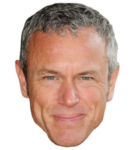 A Cardboard Celebrity Mask of Mark Foster