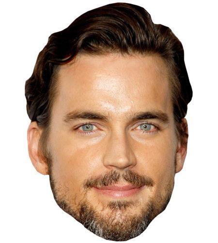 A Cardboard Celebrity Mask of Matt Bomer