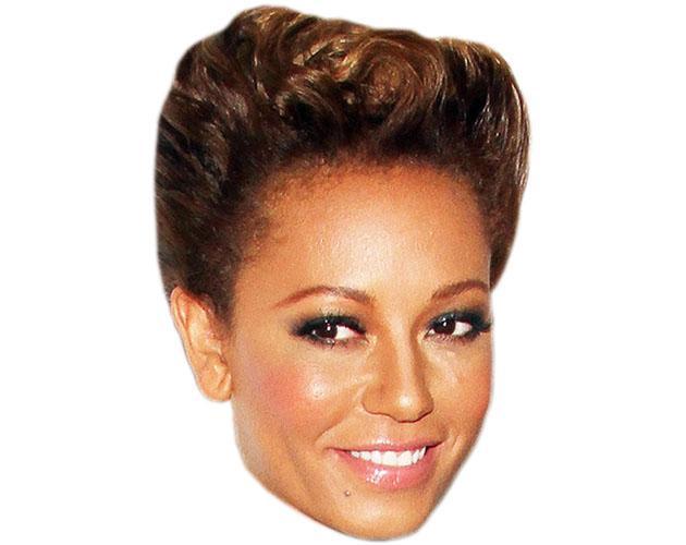 A Cardboard Celebrity Mel B Mask