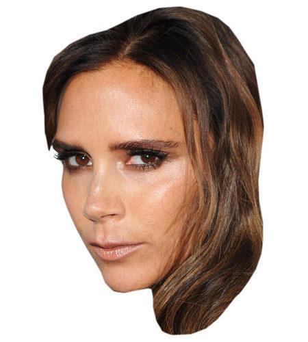 A Cardboard Celebrity Victoria Beckham Mask