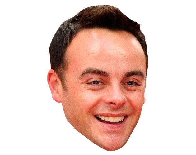 A Cardboard Celebrity Ant McPartlin Mask