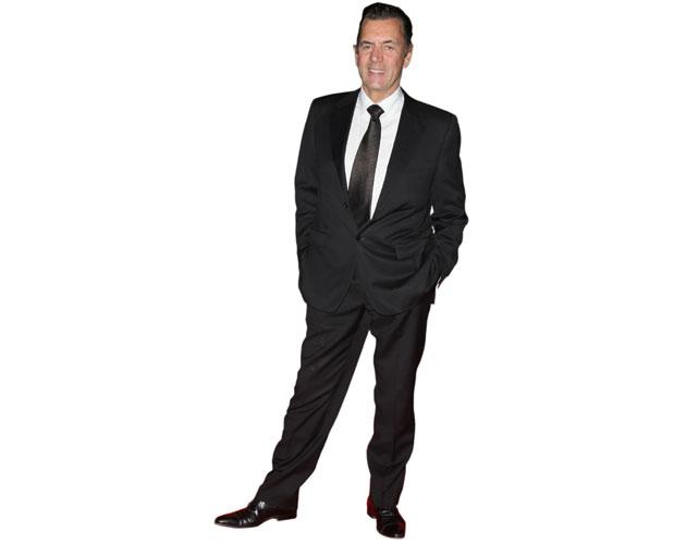 A Lifesize Cardboard Cutout of Duncan Bannatyne wearing a suit