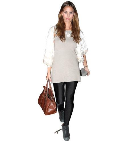 A Lifesize Cardboard Cutout of Ferne McCann carrying a bag