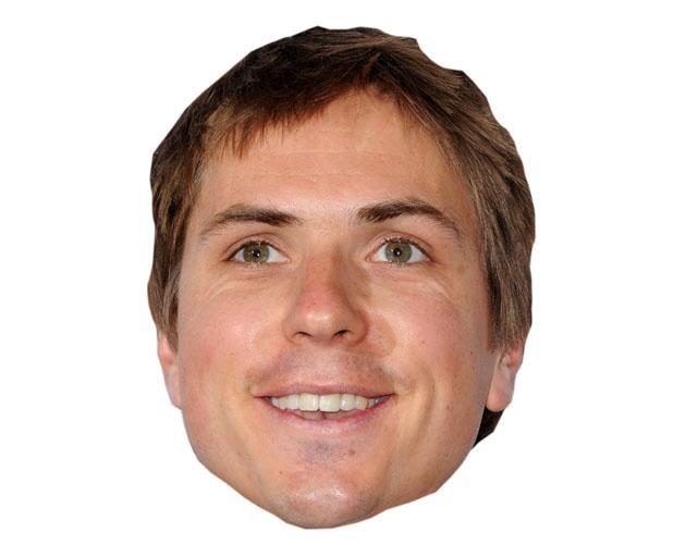 A Cardboard Celebrity Joe Thomas Mask