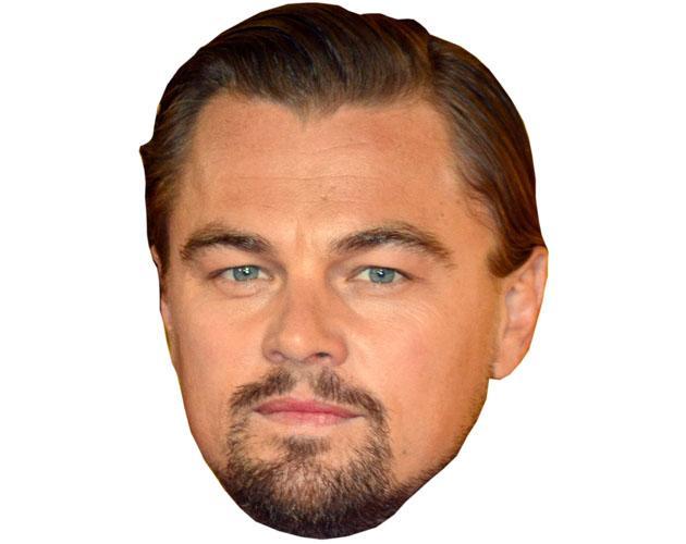 A Cardboard Celebrity Leonardo Di Caprio Mask
