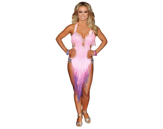 A Lifesize Cardboard Cutout of Ola Jordan wearing a dancing outfit