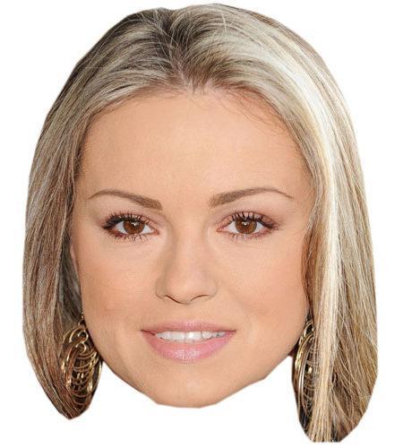 A Cardboard Celebrity Ola Jordan Mask