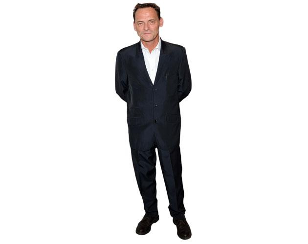 A Lifesize Cardboard Cutout of Perry Fenwick wearing a suit