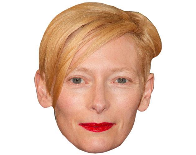 A Cardboard Celebrity Tilda Swinton Mask