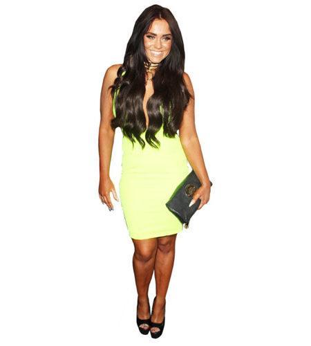 A Lifesize Cardboard Cutout of Vicky Pattison wearing a dress