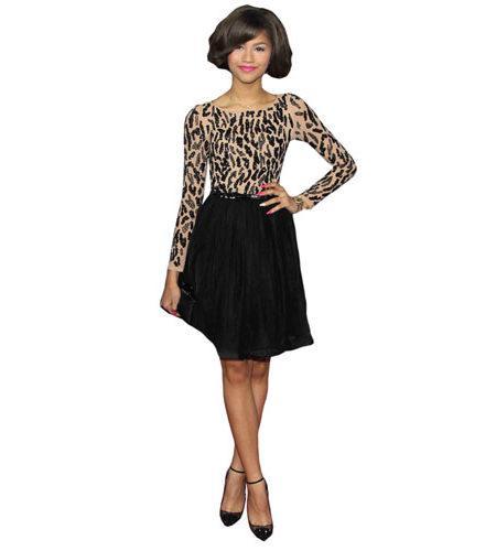 A Lifesize Cardboard Cutout of Zendaya wearing a skirt