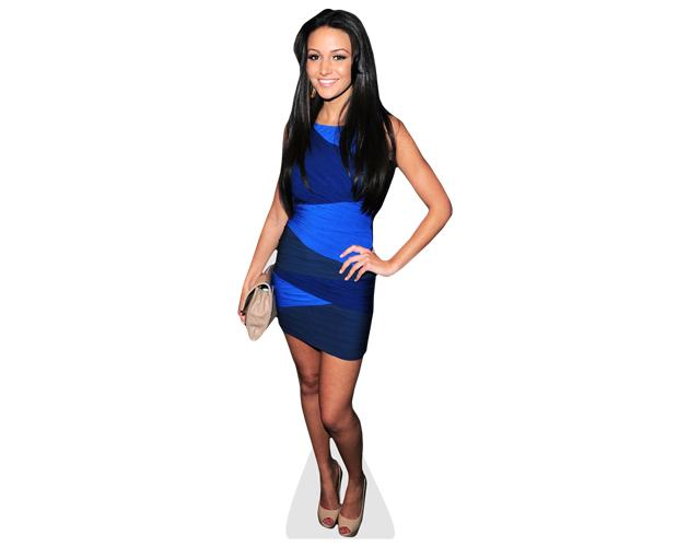 Michelle Keegan blue dress