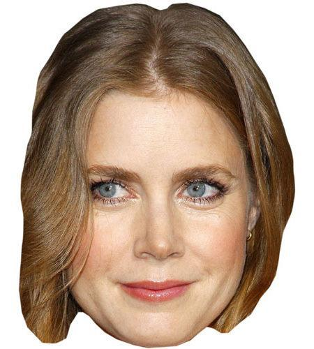 A Cardboard Celebrity Mask of Amy Adams