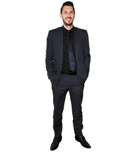 A Lifesize Cardboard Cutout of Blake Harrison wearing a suit