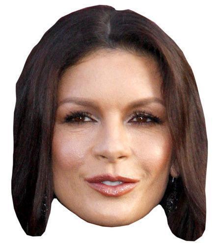 A Cardboard Celebrity Catherine Zeta-Jones Mask