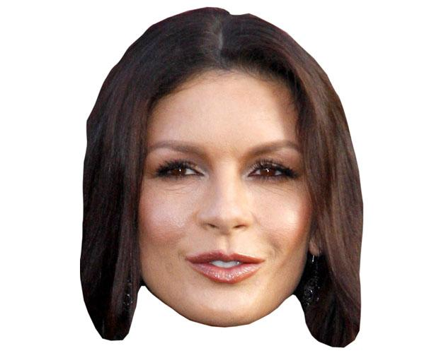 A Cardboard Celebrity Catherine Zeta-Jones Mask