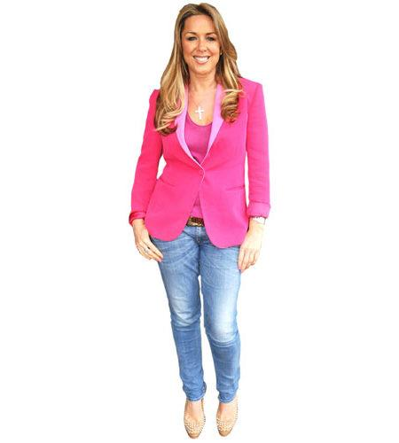 A Lifesize Cardboard Cutout of Claire Sweeney wearing pink