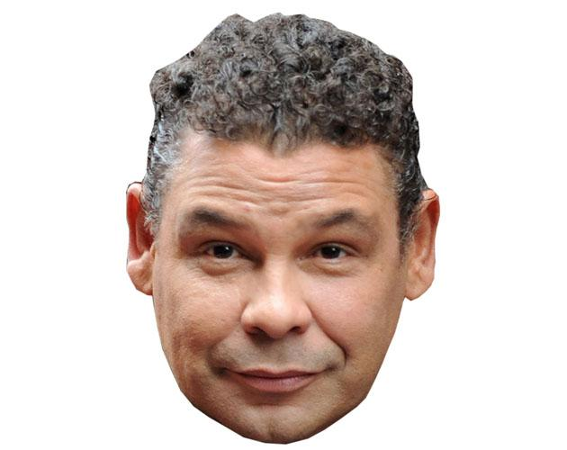 A Cardboard Celebrity Mask of Craig Charles
