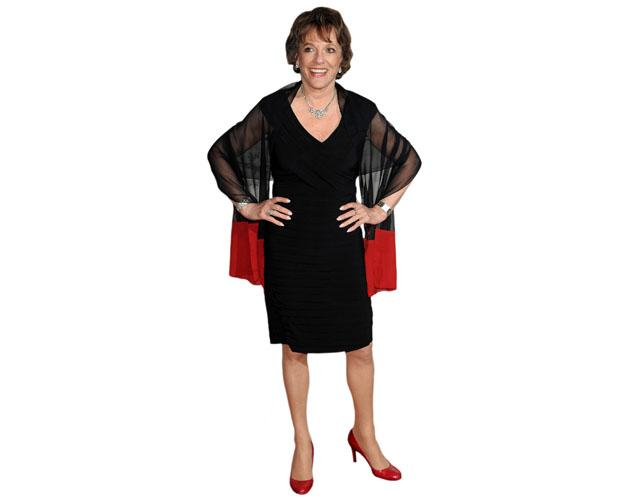 A Lifesize Cardboard Cutout of Esther Rantzen wearing a dress