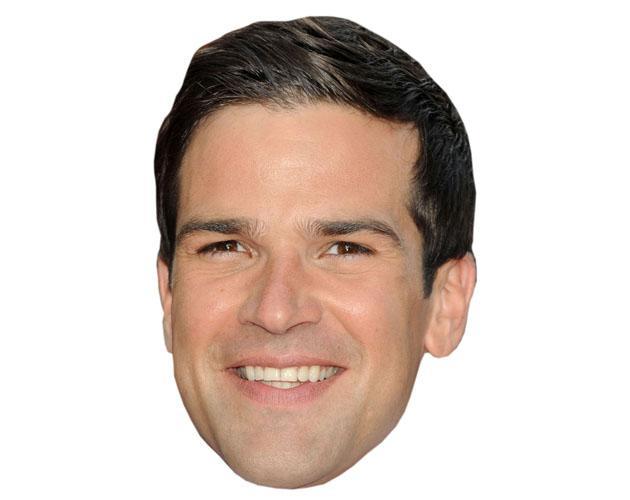 A Cardboard Celebrity Mask of Gethin Jones