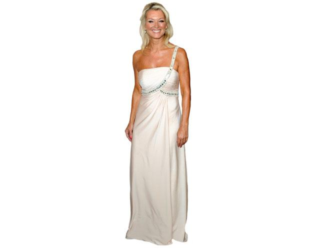 A Lifesize Cardboard Cutout of Gillian Taylforth wearing a gown