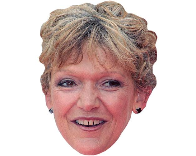 A Cardboard Celebrity Mask of Gillian Wright