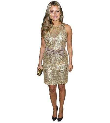 A Lifesize Cardboard Cutout of Holly Valance wearing a dress