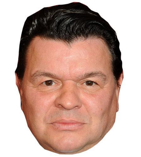 A Cardboard Celebrity Mask of Jamie Foreman