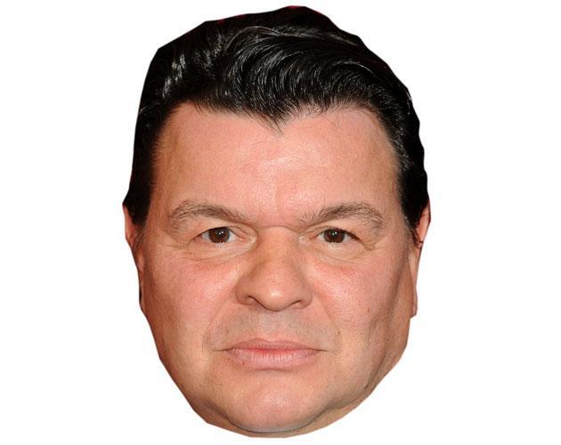 A Cardboard Celebrity Mask of Jamie Foreman