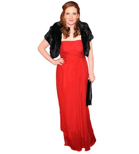 A Lifesize Cardboard Cutout of Jennie McAlpine wearing a red gown